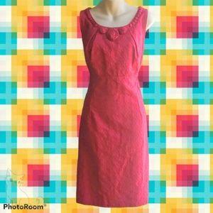 Vtg SIGNATURE by SANGRIA Pink Jacquard Dress
